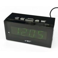 Часы настольные VST-722-2 зел.цифры
