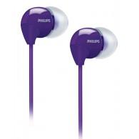 Наушники Philips SHE3590 PP вакуумные фиолетовые