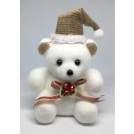 Медвежонок белый средний в шапочке