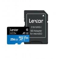Карта памяти microSDHC Lexar 256Gb Class 10 UHS-1 633х U3 A1 V30 с адапт.