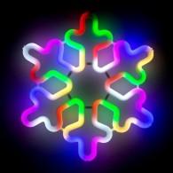 """Фигура светод. """"Снежинка"""" 30х30х2см, разноцв.(5060086)"""