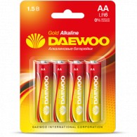 Батарейка Daewoo LR6 Gold BL 4/40/960