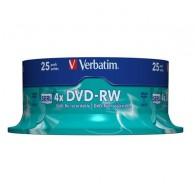 Verbatim DVD-RW 4.7Gb 4x Cake box /25