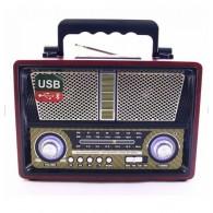 Радиоприемник MD-1802 (USB /SD/microSD/FM/220V/4*R20) черный