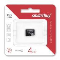 Карта памяти microSDHC SmartBuy 4Gb Class 6 без адаптера