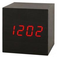 Часы настольные VST-869-1 крас.цифры, чер.корпус (дата, темп., будильник,3*ААА)