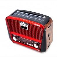 Радиоприемник P-455US (USB/microSD/Fm/AUX/акб/R*20/солн.панель) красный