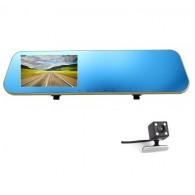 Видеорегистратор Mega L909С (зеркало,2 камеры,120\90°,microSD до 32Gb)