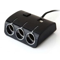 Разветвитель в авто на 3 устройства +2USB Olesson 1506 с выкл.