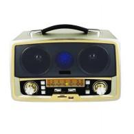 Радиоприемник MD-1701BTch (Bluetooth/USB /SD/microSD/FM/акб/4*R20) серебро