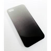 Чехол для iPhone 5 силиконовый черно-серебр Glamour