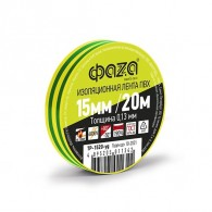 Изолента Фаzа TP-1520 желт/зеленый