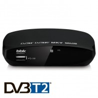 Ресивер цифровой DVB-T2 BBK SMP002HDT2 (HDMI,RCA,бпластик,черный)