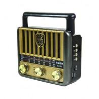 Радиоприемник М-U122BT (Fm/microSD/USB/AUX/BT/220V/2*R20) золото Meier