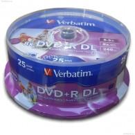Verbatim DVD+R 8.5Gb 8x двуслойный Printable Cake box /25