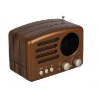 Радиоприемник М-162ВТ (Bluetooth/USB/microSD/Fm/AUX/акб) корич Meier