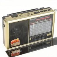 Радиоприемник RX-6666ch (USB+microSD,фонарь) золото