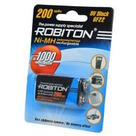 Аккумулятор Robiton 6F22 200mAh sh