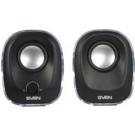 Колонки SVEN 2.0 330 (5Вт) черный с подсветкой USB