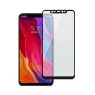 Защитное стекло 2,5D для Xiaomi Mi 8 чер (89019)