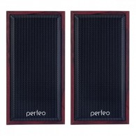 """Колонки Perfeo 2.0 """"Cabinet"""" красное дерево (2*3W)"""
