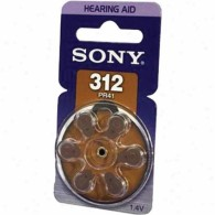 Батарейка Sony 312 (PR 41) BL 6/60/300