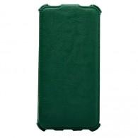 Чехол-книжка кожзам для iPhone 6 зеленый (откр.вниз)