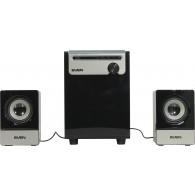 Колонки SVEN MS-110 черный ( 5W+2*2,5W, SD, USB)
