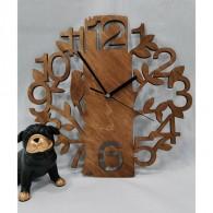 Часы настенные F15 (1АА) дерево, резьба