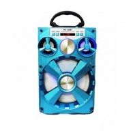 Колонка портативная MS-218BT (Bluetooth/USB /SD/FM/дисплей) голубая