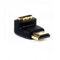 Переходник HDMI (M) - HDMI (F) угловой Smartbuy