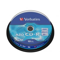 Verbatim CD-R 700Mb 52x DL+ Cristal Cake box /10