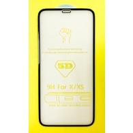 Защитное стекло 3D для iPhone Х\XS черное (102979)