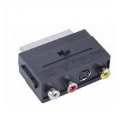 Переходник SCART <-> 3RCA (Гн),S-VIDEO с переключателем