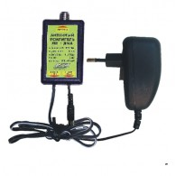 Усилитель антенный МВ+ДМВ 30дБ, пластик, адаптер пит. (САТ-Г\САТ-Ш) Antex