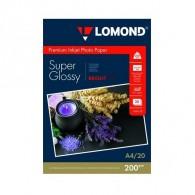 Бумага Lomond суперглянцевая A4, 200 г /20л (1101112) /38