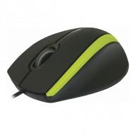 Мышь Defender MM-340 USB черно-зел (52346)