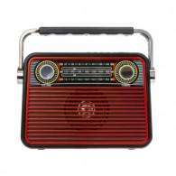 Радиоприемник М-180ВТ (Bluetooth/USB/microSD/Fm/AUX/акб) красный Meier