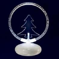 Светильник декоративный Елочка, 2LED белый, 1RGB (TER-TR) (3*ААА)