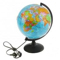Глобус с подсветкой 25см полит.рельефн. карта (1065226)