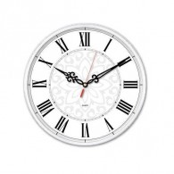 Часы настенные Бюрократ R70P D25см белые