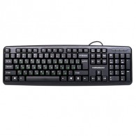 Клавиатура Nakatomi KN-02U USB, черная (61526)