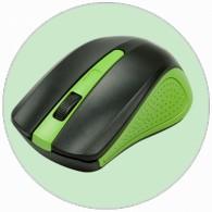 Мышь Ritmix RMW-555 беспроводная черно-зел