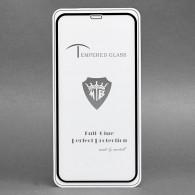 Защитное стекло Brera 2.5D для iPhone XR (черная рамка)