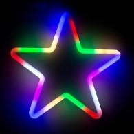 """Фигура светод. """"Звезда"""" 28х28х2см, разноцв.(5060081)"""