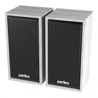 """Колонки Perfeo 2.0 """"Cabinet"""" белое дерево (2*3W)"""