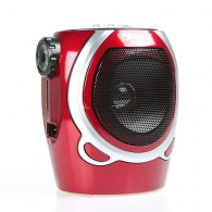 Радиоприемник RX-678ch (USB/SD/FM/фонарь) красный