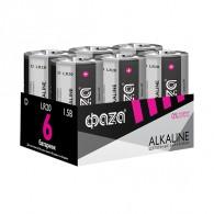 Батарейка Фаzа LR20 Alkaline Pack-6 /24/96