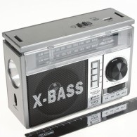 Радиоприемник NS-1327Uch (USB/SD/FM/фонарь) серебро
