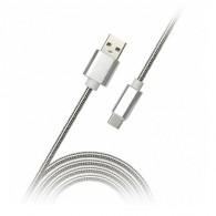 Кабель USB- Type-C SmartBuy 1м (iK-3112silver met)